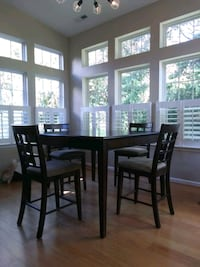 High square table set 4 chairs included