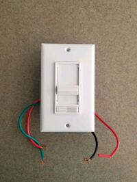 Leviton Slide Dimmer with Wall Plate Cover