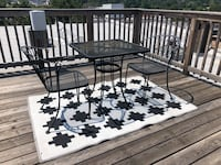 Outdoor patio set with table, 2 chairs, & rug Baltimore, 21224