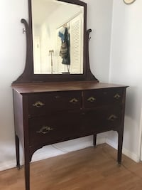 Brown wooden dresser with mirror Sarasota, 34232