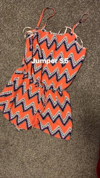 Women's orange and blue romper Jackson, 39206