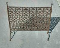 VINTAGE WROUGHT IRON FIREPLACE SCREEN