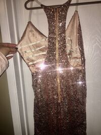 BRAND NEW Sz Small Champagne color sequin dress w/unique stunning back Edmonton, T5A 4M6