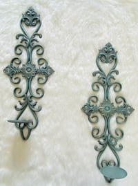 wall decor pair of candle holders