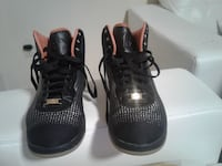 pair of black-and-gray Nike KD sneakers
