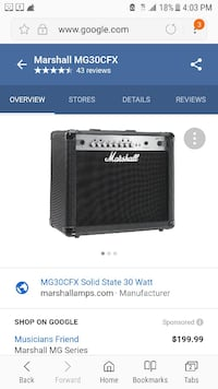 Marshall AMP (MG30CFX) (Must go today by 5pm) Patchogue, 11772