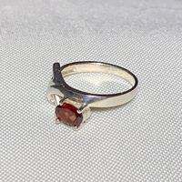 Genuine Sterling Silver Ruby Ring Ashburn