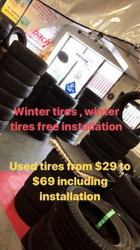 Used winter and all season tires
