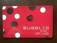 Bubbles Gift Card - $30 for $20 Washington, 20011