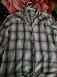 gray and white plaid button-up shirt Tucson, 85719