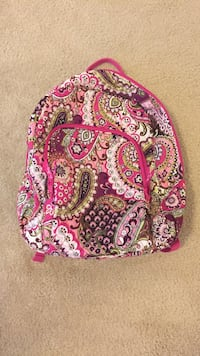 white, pink and brown paisley backpack Williamsburg, 23188