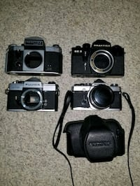 4 Film cameras for parts or fix