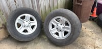 5 Jeep Wrangler 2012 rims and tires -2 are very good. Three fair