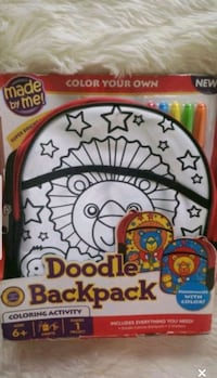 Children's Doodle Personalize Backpack New York, 10002