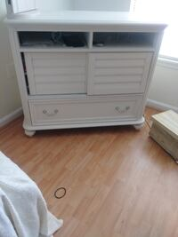 white wooden 2-drawer chest Olney