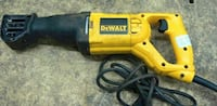 yellow and black DeWalt corded power drill Surrey, V4P