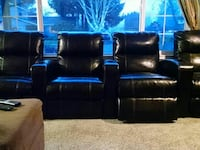Set of 4 theater chairs