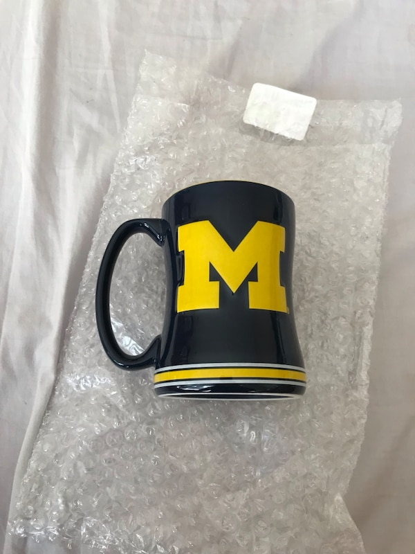 Michigan Wolverines Sculpted Coffee Mug 0
