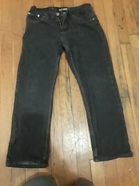 black denim straight-cut jeans Richmond, 23227