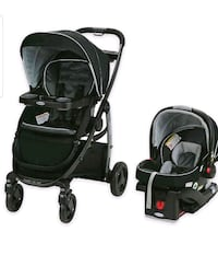 Fisher Price Babies Crib and Graco Car Seat with Stroller