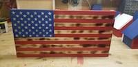 Hand carved wooden flag  Islip, 11751