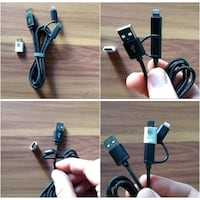 Cable USB a Micro-USB con adaptador Lightning Madrid