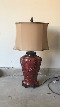 brown and red floral table lamp Statesville, 28625