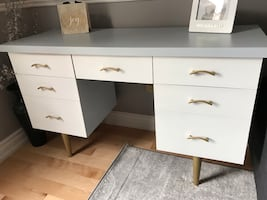 MCM desk console or vanity table