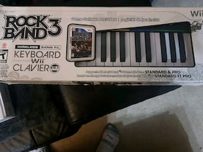 Wii Rock Band 3 Pro keyboard