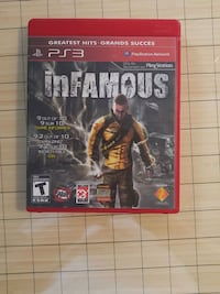 Infamous 1 PS3 game Ottawa, K1Y 4S2