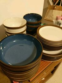 plate set (bowls, wide bowls, small/large plate) Silver Spring, 20902