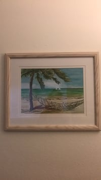 Tropical watercolor with frame 2249 mi