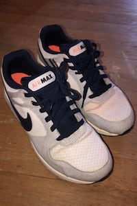 Men's Nike airmax sneakers size 10 grey and blue and orange Rahway, 07065
