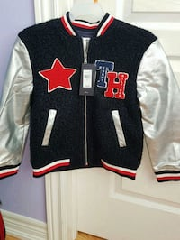 black and red Chicago Bulls letterman jacket Brampton, L6Y 5T2