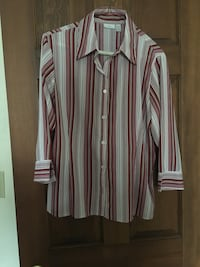 Women's Red and White Blouse. Now Reduced to $2.70 Easton, 18045
