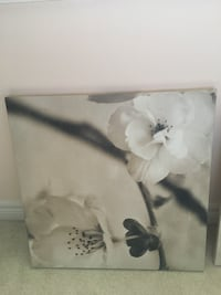 white and black flower painting Richmond Hill, L4S 0V5
