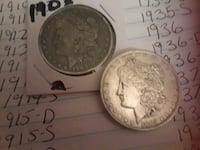Collectable rare Morgan dollars. Clearwater, 33764