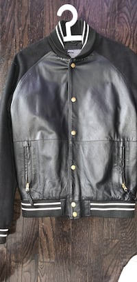 Crooks and castles real leather jacket