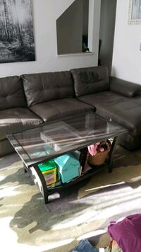 Sectional couch & coffee table