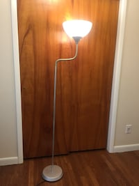 Silver floor lamp with bendable neck Franklin, 46131