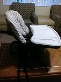 white and black high chair baby/toddle Springfield, 22151