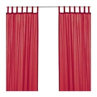 1 pair of IKEA Wilma Curtain in RED  North Vancouver, V7N 3A7