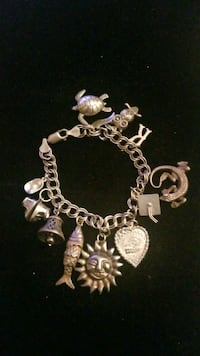 Sterling silver bracelet with charms Hyattsville, 20784