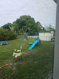 Used Swing Set With Mini Trampoline For Sale In Boynton Beach Letgo