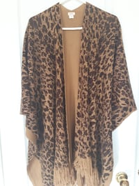 brown and black leopard print cardigan Brampton