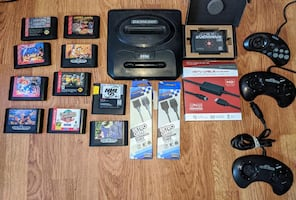 Large Sega Genesis Collection (HDMI, Everdrive, and More!)