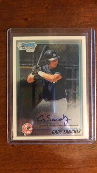 Gary Sanchez Signed Rookie Card Seaford, 11783