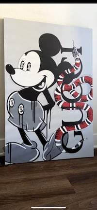 Signed original mickey gucci painting