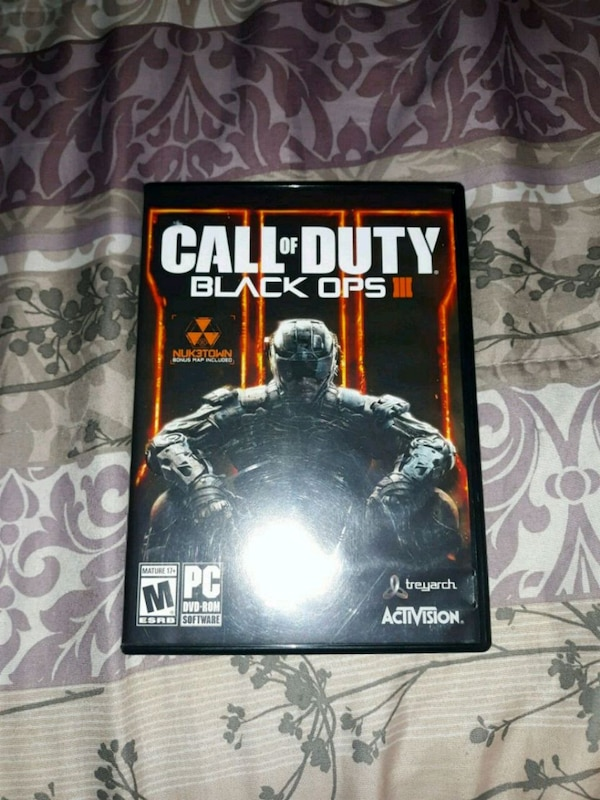 Used Sony PS3 Call of Duty Black Ops III case for sale in