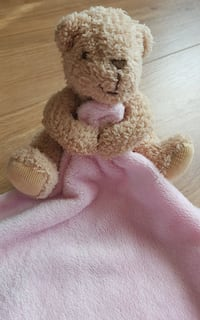 brown and pink bear plush toy Guildford